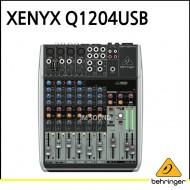 Q1204USB/프리미엄 12입력 2/2버스 믹서, 제닉스 마이크 프리앰프, 컴프레셔, 무선 마이크 옵션과 USB/오디오 인터페이